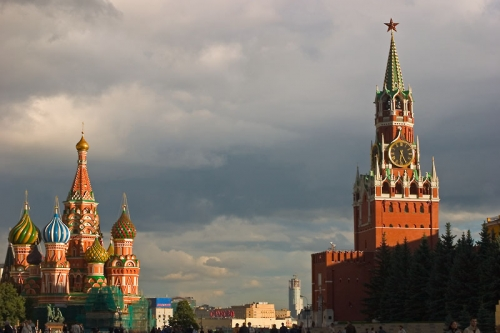 St. Basil's Cathedral and the Spasskaya Tower of the Kremlin, Red Square