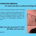flyer for Hyoun-A Joo lecture on German linguistics